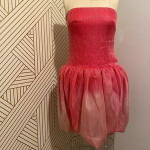 Tadashi Shoji strapless ombré tulip dress, NWT
